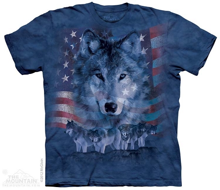 Patriotic Wolfpack - 10-8228 - Adult  T-shirt