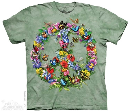 Butterfly And Dragonfly Peace - 10-3340 - Adult Tshirt
