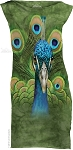 Vibrant Peacock - Ladies Mini Dress