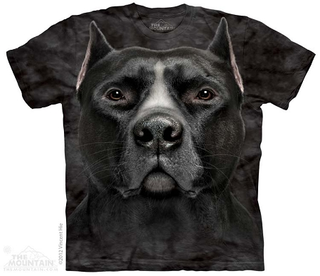 Black Pit Bull Head - 10-3597 - Adult Tshirt