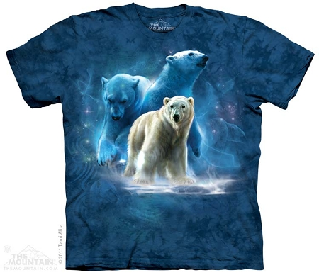 Polar Bear Collage - 10-3234 - Adult Tshirt
