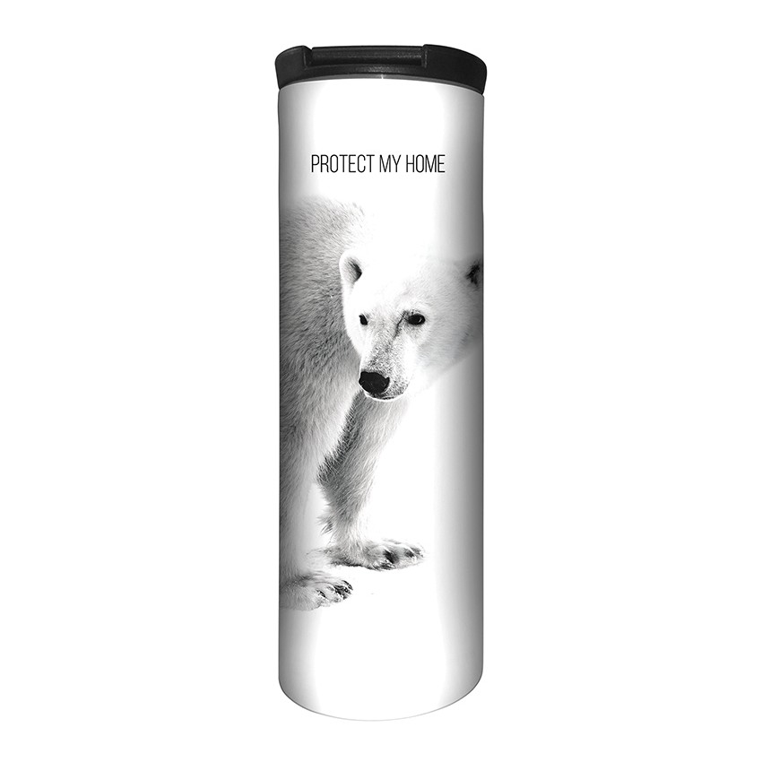 Polar Bear Protect My Home - 59-5554 - Stainless Steel Barista Travel Mug