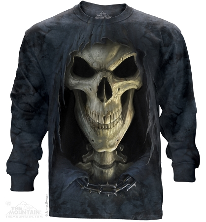 Grim Reaper Skull - 45-3652 - Adult Long Sleeve T-shirt