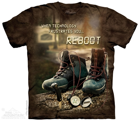 When Technology Frustrates You...Reboot - 10-4920 - Adult  T-shirt