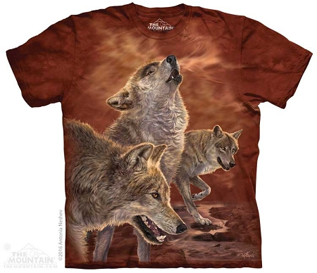 Red Glow Wolves - 10-4868 - Adult Tshirt