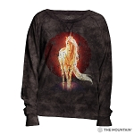 Retro Unicorn - 74-5824 - Women's Slouchy Crew