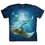 School of Stingrays - 10-5969 - Adult Tshirt
