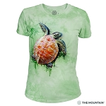 Sea Turtle Climb - 26-5947 - Women's Triblend Crew-Neck Tee