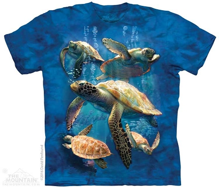 Sea Turtle Family - 10-4973 - Adult Tshirt