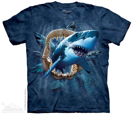 Great White Shark Attack - 15-2287 - Youth Tshirt