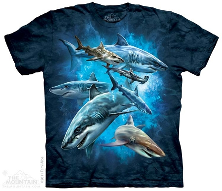 Shark Collage - 15-3304 - Youth Tshirt