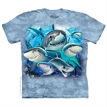 Sharks Selfie - 10-5939 - Adult Tshirt