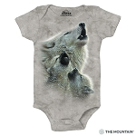 Singing Lesson Wolves - 89-3540 - Infant Onesie