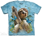 Sloth And Butterflies - 10-4862 - Adult Tshirt