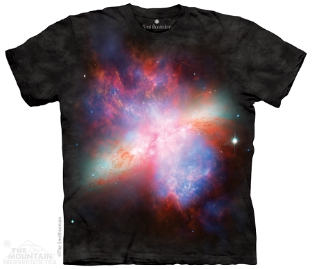 Starburst Galaxy Messier 82 - 43-7072 - Adult Tshirt