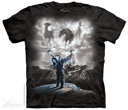 Summoning the Storm - 10-1321 - Adult Tshirt - Native American