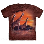 Sundown Giraffes - 10-5906 - Adult Tshirt