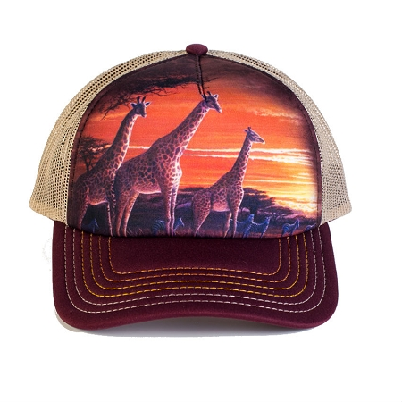 Sundown Giraffes - 76-5906 - Trucker Hat