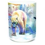 Sunrise Polar Bear Collage - 57-5895-0901 - Everyday Mug