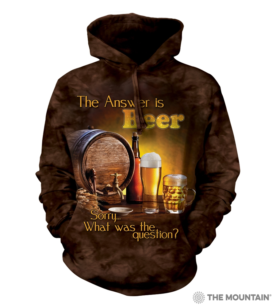 The Answer is Beer...Sorry, What Was the Question? - 72-4902 - Adult Hoodie