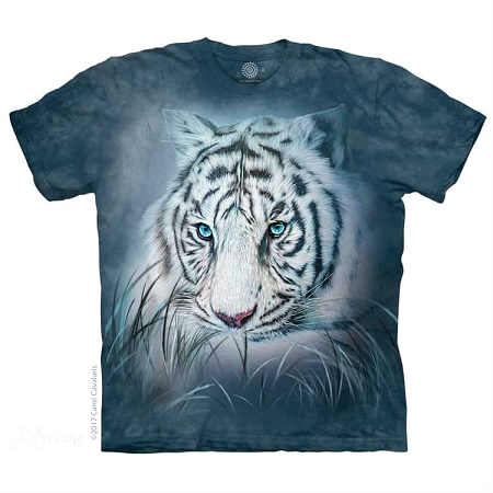 Thoughtful White Tiger - 10-5964 - Adult Tshirt