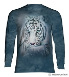 Thoughtful White Tiger - 45-5964 - Adult Long Sleeve T-shirt