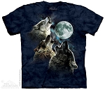 Three Wolf Moon In Blue - 10-3859 - Adult Tshirt