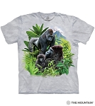 Gorilla Family - 10-6447- Adult Tshirt