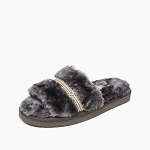 Minnetonka Moccasins 590010 - Women's London - Slipper - Charcoal