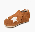 Minnetonka Moccasins 1192 - Infants Star Bootie - Brown Suede