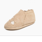 Minnetonka Moccasins 1195 - Infants Star Bootie - Stone Suede