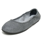 Minnetonka Moccasins 251 - Women's Anna Flats - Distressed Charcoal