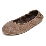 Minnetonka Moccasins 258 - Women's Anna Flats - Distressed Chocolate