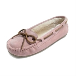 Minnetonka Moccasins 4019 - Women's Cally Slipper - Pile Lined - Pink Blush Suede