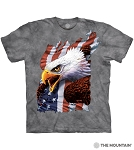 Patriotic Screaming Eagle - 10-6436 - Adult Tshirt