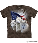 Patriotic Wolves - 10-6418 - Adult Tshirt