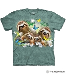 Sloth Family Selfie - 10-6448 - Adult Tshirt