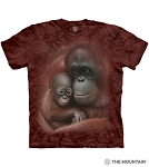 Snuggled Orangutans - 10-6445- Adult Tshirt