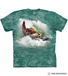 Surfin' Sea Turtle - 10-6453 - Adult Tshirt