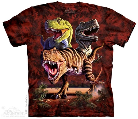 T-rex Collage - 15-3025 - Youth Tshirt