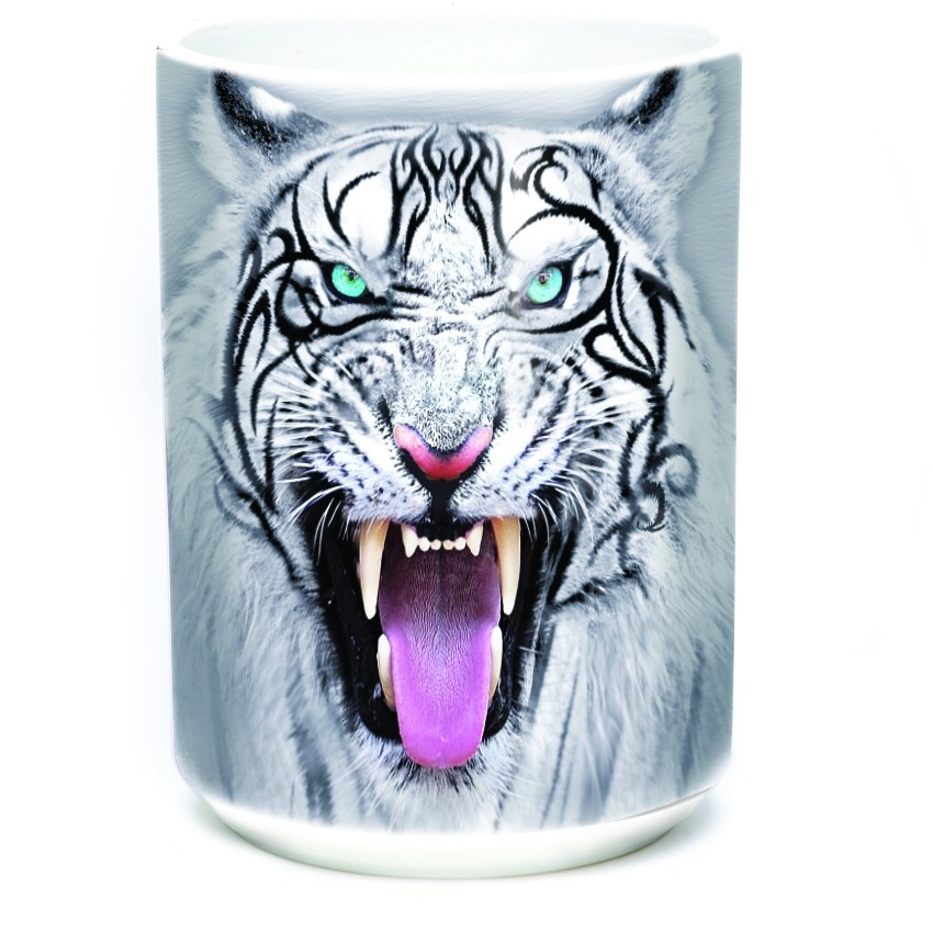 Tribal White Tiger - 57-3953-0901 - Everyday Mug