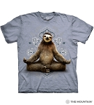 Vriksasana Sloth - 10-6286 - Adult Tshirt - Blue