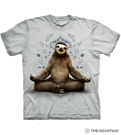 Vriksasana Sloth - 10-6286 - Adult Tshirt - Grey