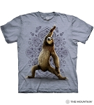 Warrior Sloth - 10-6288 - Adult Tshirt - Blue