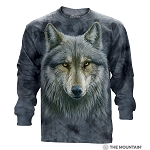 Warrior Wolf - 45-4979 - Adult Long Sleeve T-shirt