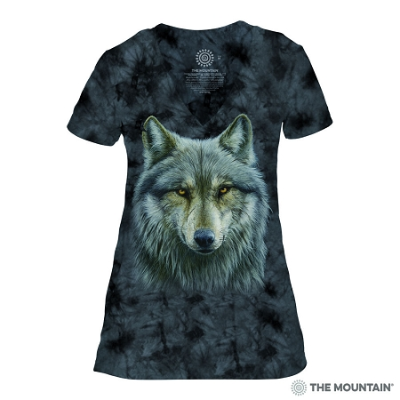 Warrior Wolf - 41-4979 - Women's Triblend V-Neck Tee