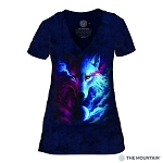 Where Light and Dark Meet - 41-4963 - Women's Triblend V-Neck Tee