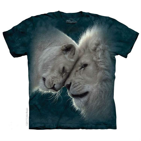 White Lions Love - 10-5937 - Adult Tshirt