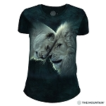 White Lions Love - 26-5937 - Women's Triblend Crew-Neck Tee