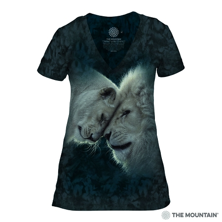 White Lions Love - 41-5937 - Women's Triblend V-Neck Tee
